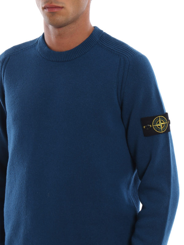 STONE ISLAND buy online Blue green knit wool blend sweater