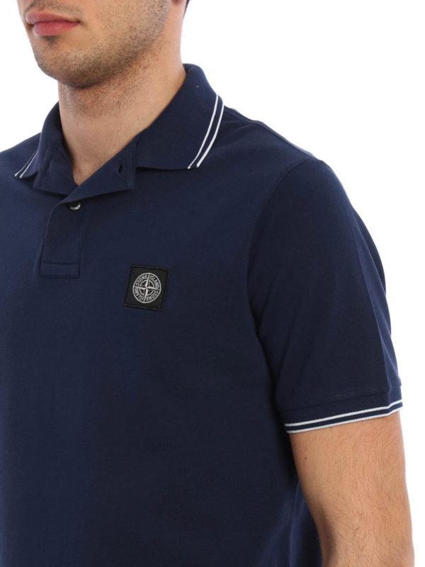 Fr/ühling Sommer 20 Stone Island Luxury Fashion Junge 721621348V0020 Blau Baumwolle Poloshirt