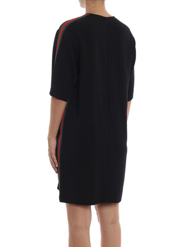 Knielanges Kleid - Schwarz shop online: GUCCI