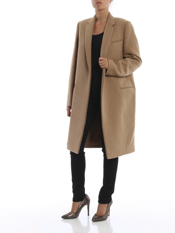 Structured wool coat shop online: Céline