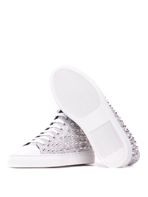 info for 69d29 829de Gienchi - Studded high-top glitter sneakers - اسپرت،اسنیکرز ...