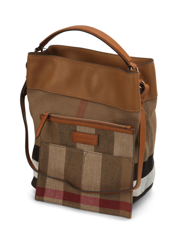 Susanna Canvas Check hobo bag shop online: Burberry
