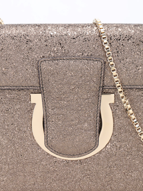 Clutch - Bronze shop online: SALVATORE FERRAGAMO