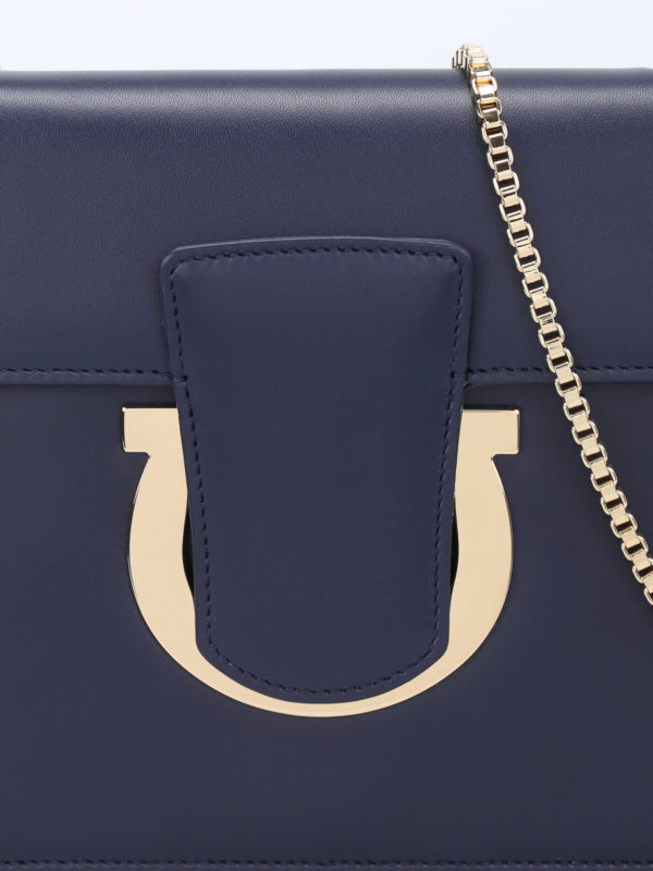 Clutch - Blau shop online: Salvatore Ferragamo