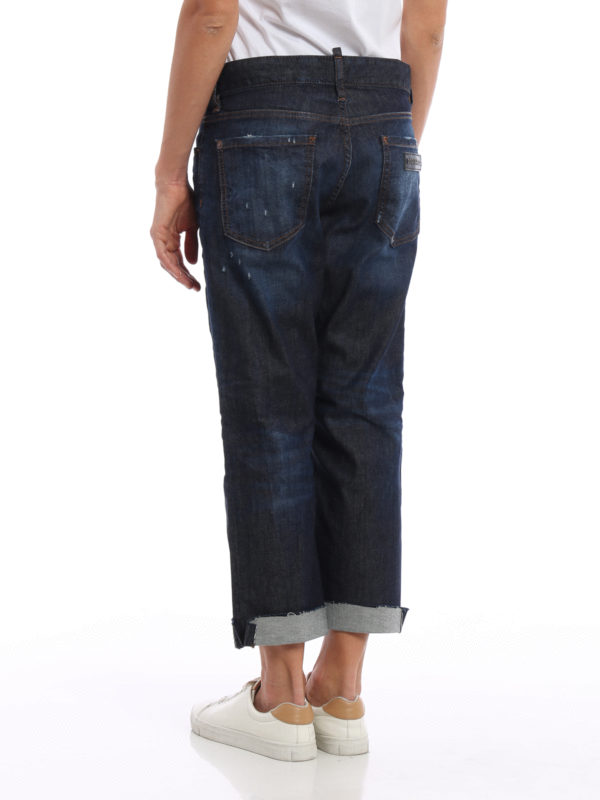 Straight Leg Jeans - Dark Wash shop online: Dsquared2