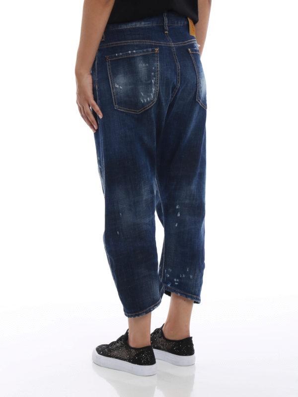 Boyfriend Jeans - Jeansblau shop online: DSQUARED2