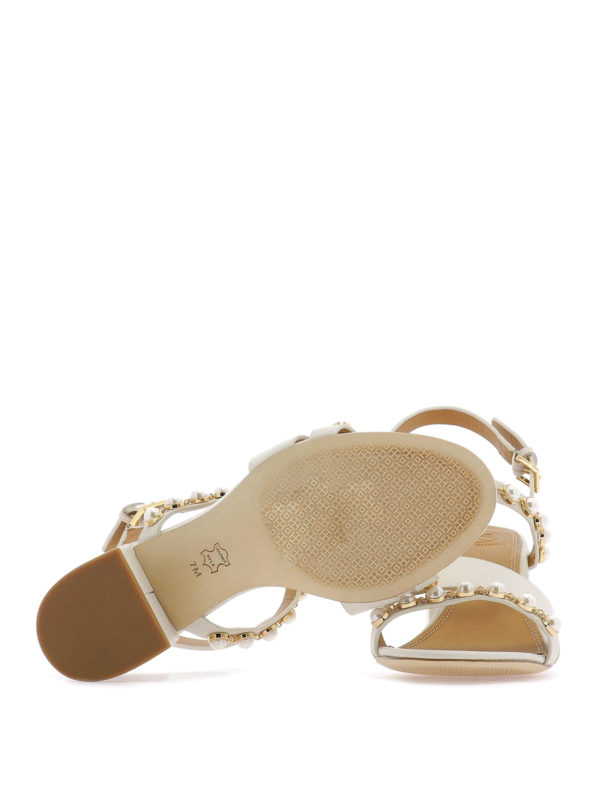 ae6356949e4d Tory Burch - Emmy mid-heel pearl sandals - sandals - 55043157 ...