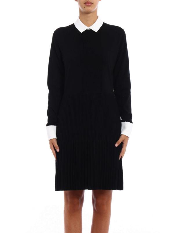 Tory Burch: knee length dresses online - Sabina pleated skirt dress