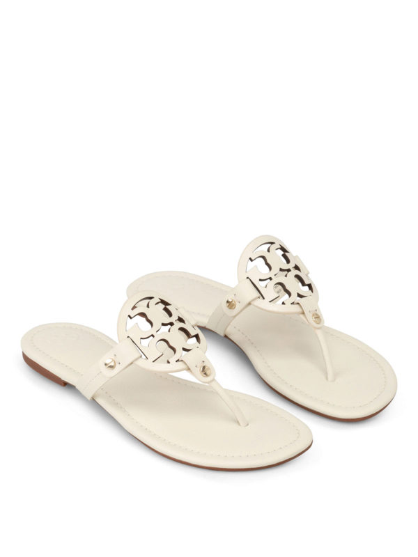 9de77cdb4a344 Tory Burch - Miller leather thong sandals - sandals - 36446 120