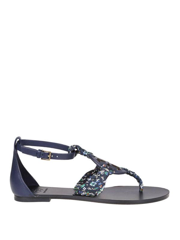610f42365 Tory Burch - Miller Scarf blue sandals - sandals - 53723 400