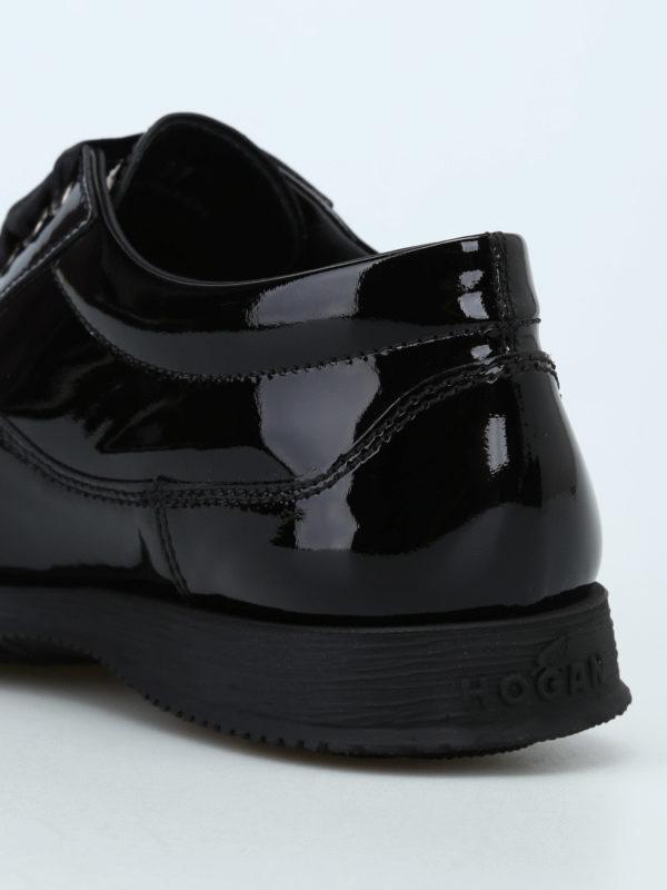 Traditional patent leather lace-ups shop online: HOGAN