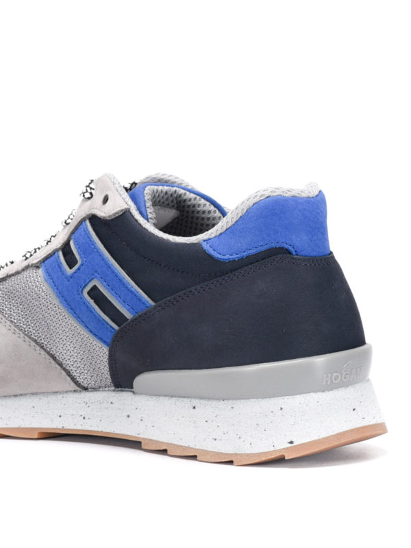 Trainers with suede inserts shop online: Hogan