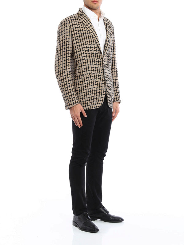 Unstructured woven wool jacket shop online: L.B.M 1911