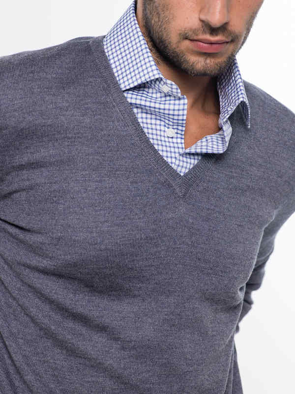 V-neck sweater shop online: Barba