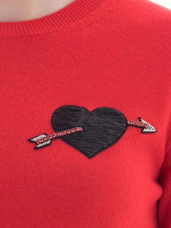 VALENTINO buy online Rundhalspullover - Rot