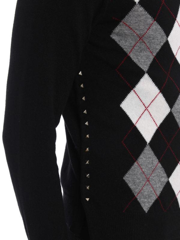 Valentino buy online Rundhalspullover - Gemustert
