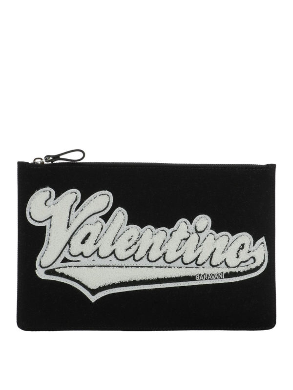 VALENTINO GARAVANI: clutches - Logo print clutch