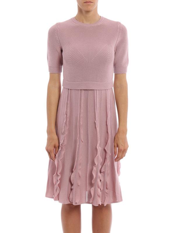 VALENTINO: Knielange Kleider online - Knielanges Kleid - Einfarbig