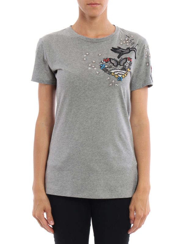 Valentino: T-shirts online - T-Shirt - Gemustert