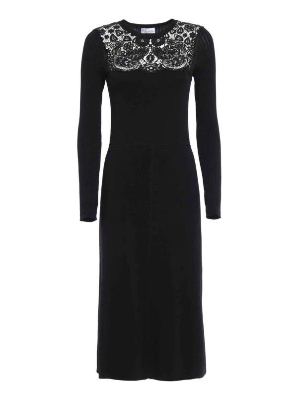 Tendencia de moda Vestido De Cóctel Negro de Valentino Red - Vestidos de cóctel - LR3KD0C52JL 0NO - ATEQVEP