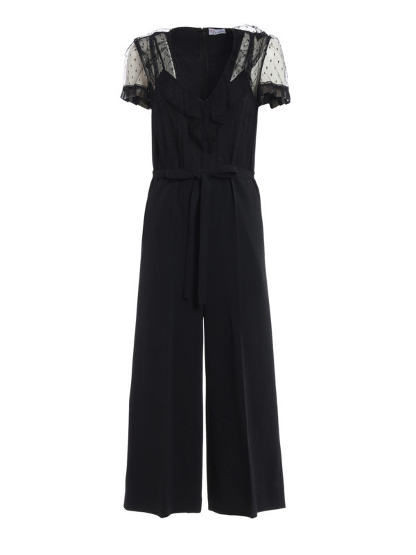 VALENTINO RED: Jumpsuits - Jumpsuit - Einfarbig