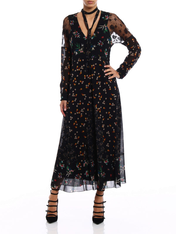 Silk bodycon maxi dress with boots