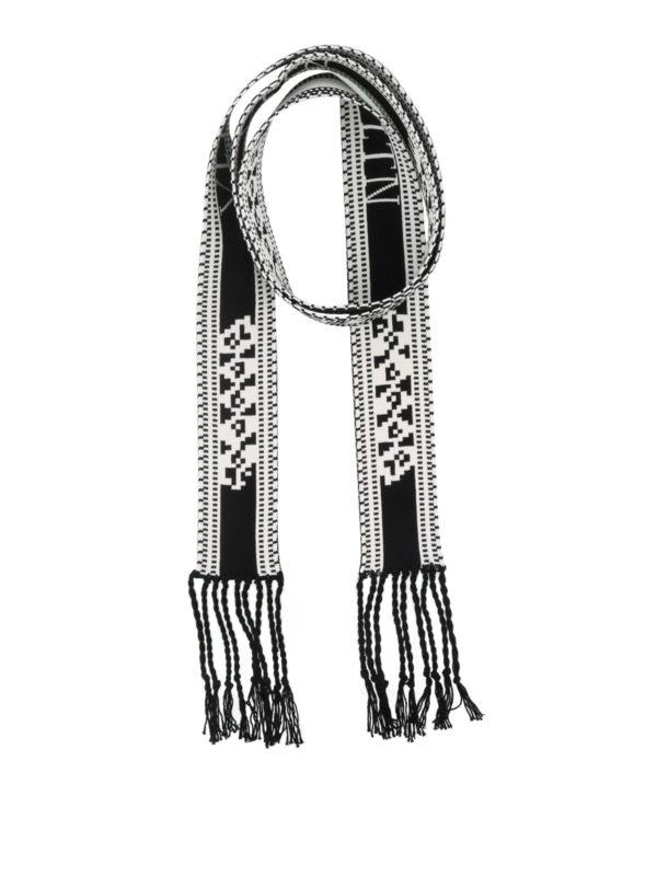 VALENTINO: Bufandas y pañuelos - Bufanda - Negro
