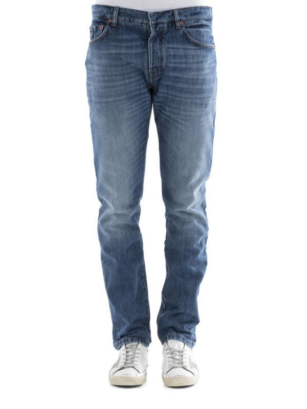 Valentino: Straight Leg Jeans online - Straight Leg Jeans - Light Wash