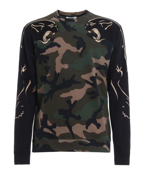 Valentino: Sweatshirts und Pullover - Sweatshirt - Dunkelgrün