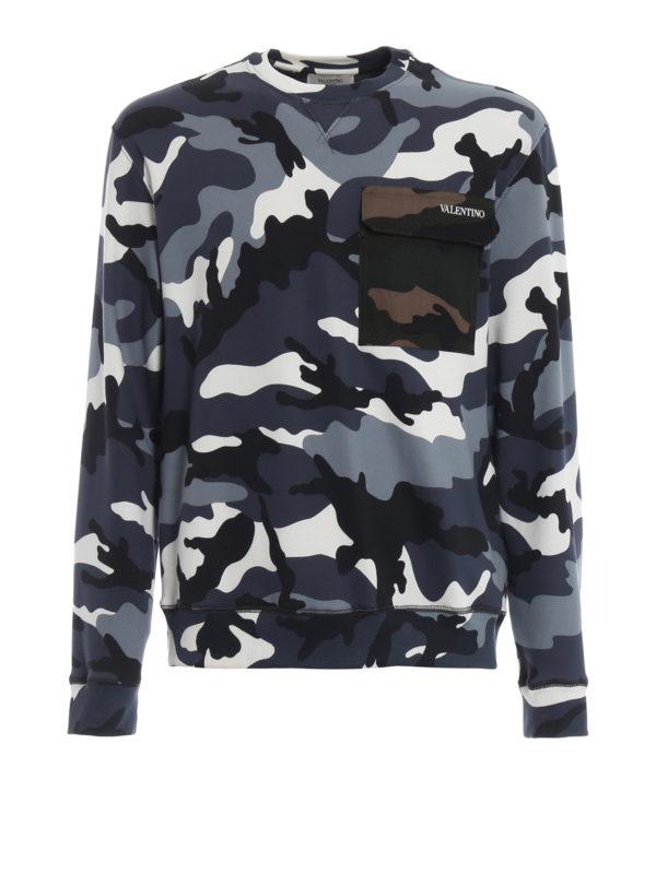 VALENTINO: Sweatshirts und Pullover - Sweatshirt - Gemustert