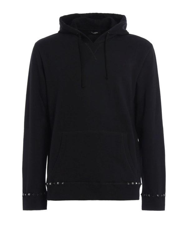 Valentino: Sweatshirts und Pullover - Sweatshirt - Schwarz