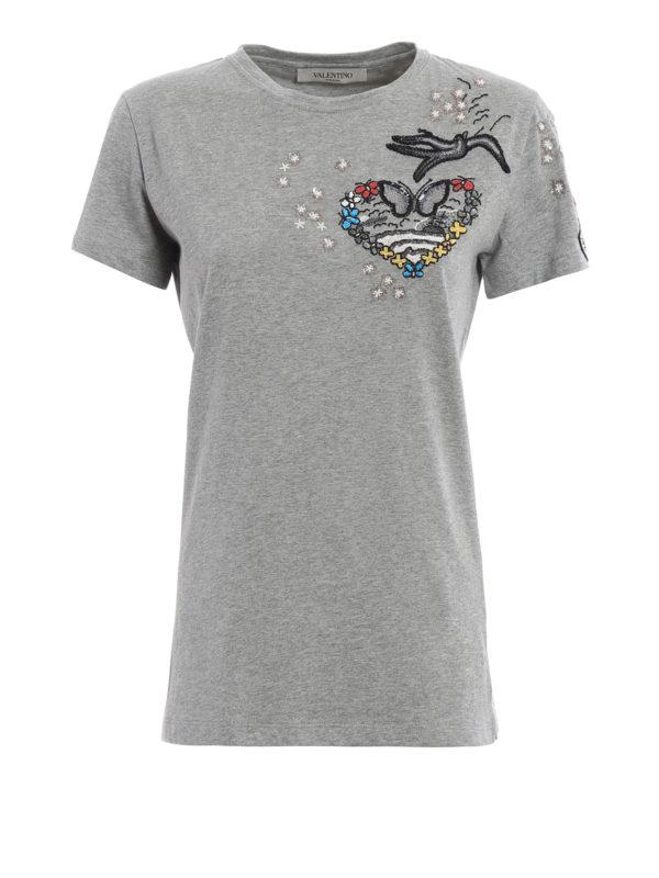 Valentino: T-shirts - T-Shirt - Gemustert