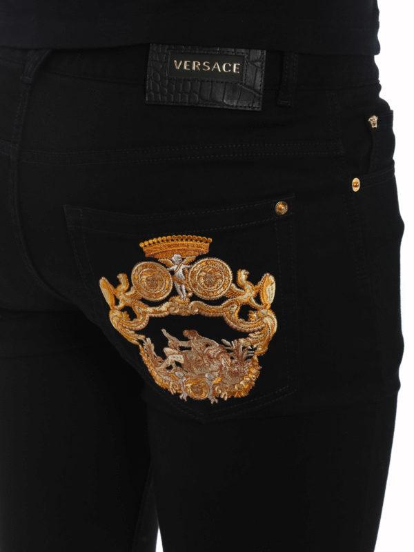 VERSACE buy online Straight Leg Jeans - Schwarz
