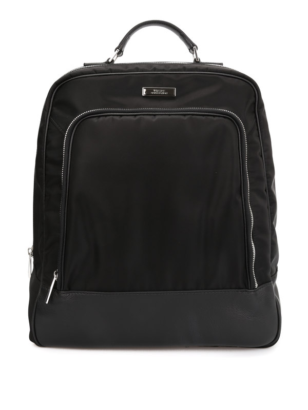 Versace Collection: backpacks - Technical fabric backpack