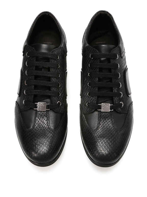 Versace Collection buy online Python sneakers