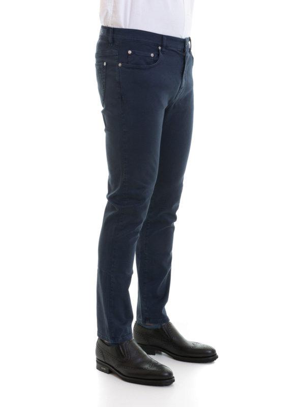 2944adad9b Versace Collection - Jeans slim in cotone stretch blu - jeans dritti ...