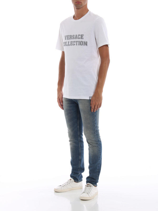 VERSACE COLLECTION: T-shirts online - T-Shirt - Weiß