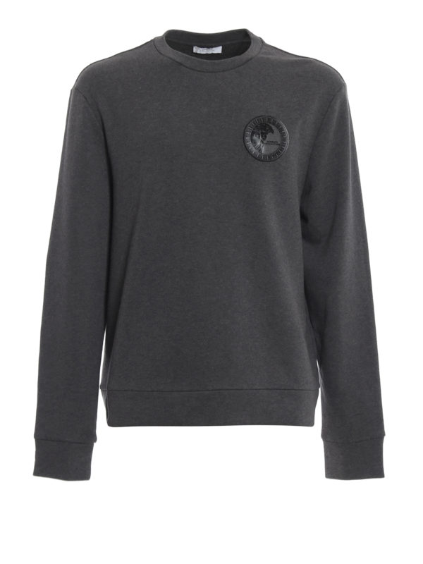 VERSACE COLLECTION: Sweatshirts und Pullover - Sweatshirt - Dunkelgrau