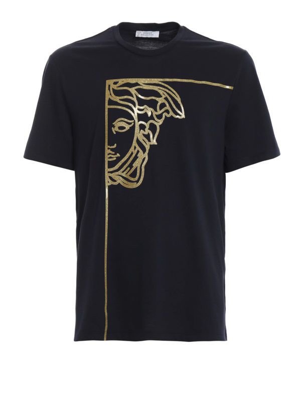 VERSACE COLLECTION: T-shirts - T-Shirt - Dunkelblau