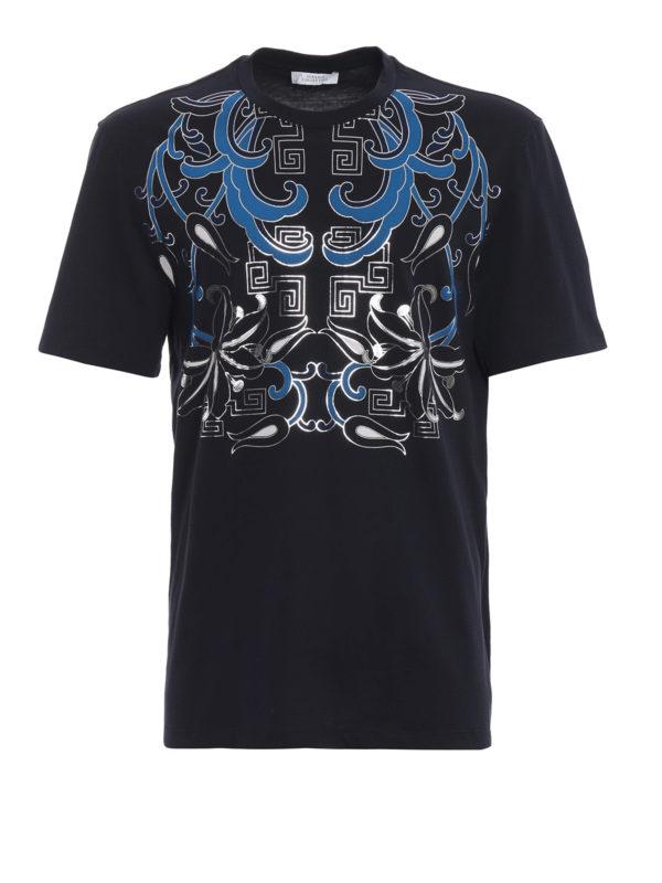 VERSACE COLLECTION: T-shirts - T-Shirt - Dunkelblau