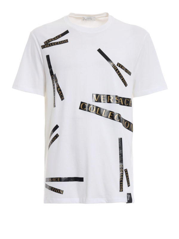 VERSACE COLLECTION: T-shirts - T-Shirt - Weiß