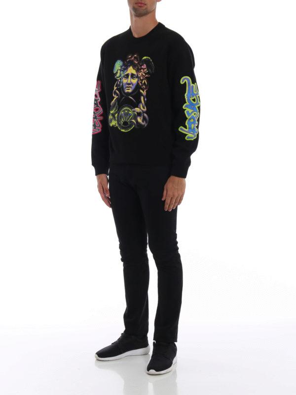 VERSACE: Sweatshirts und Pullover online - Sweatshirt - Schwarz