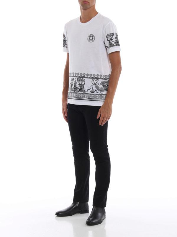 VERSACE: T-shirts online - T-Shirt - Weiß