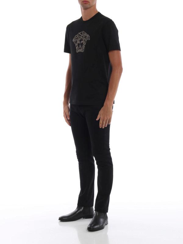 VERSACE: T-shirts online - T-Shirt - Schwarz