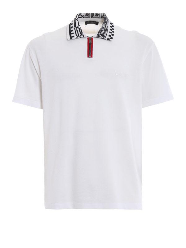 VERSACE: Poloshirts - Poloshirt - Weiß