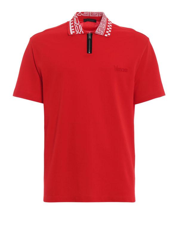 VERSACE: Poloshirts - Poloshirt - Rot