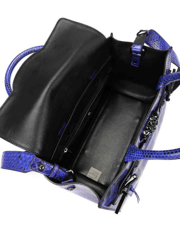 iKRIX VERSACE: Handtasche Palazzo aus Pythonleder