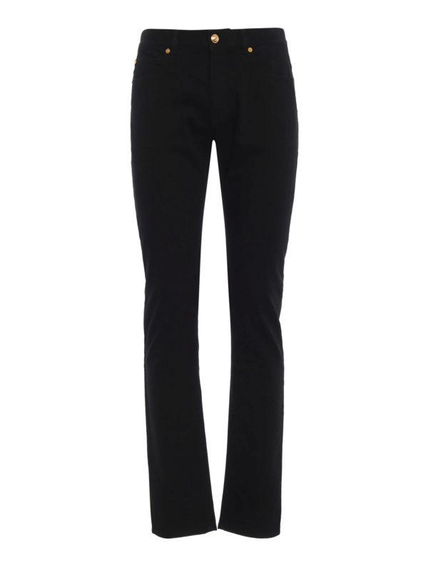 VERSACE: Straight Leg Jeans - Straight Leg Jeans - Schwarz