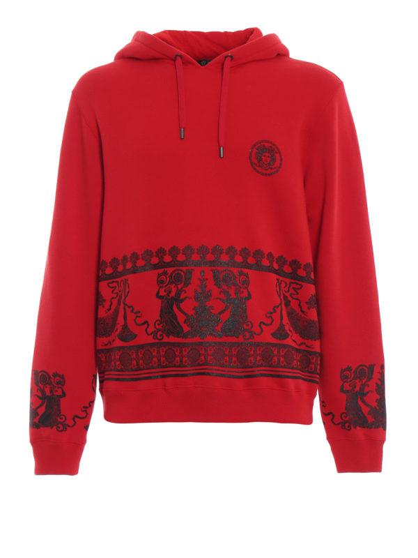 VERSACE: Sweatshirts und Pullover - Sweatshirt - Rot