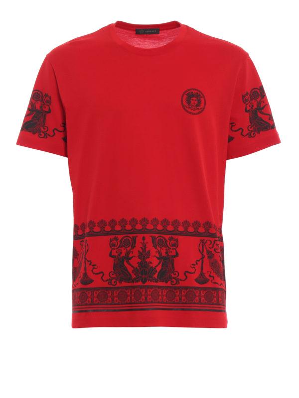 VERSACE: T-shirts - T-Shirt - Rot